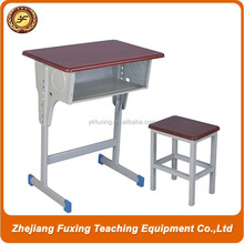 School Furniture Type Metal and Wood Adjustable Single cheap school desk and chairs
