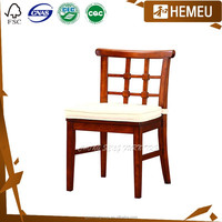 Dining room home furniture with solid wood Gold cherry color chair