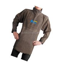 Brown Split leather welding apron w Long Sleeves
