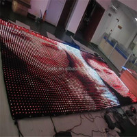 china sexy video curtain led display wall hot vide on sale