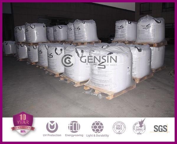 Haining Lixin UV resistant UV blocking twinwall polycarbonate sheet 2100*5800mm