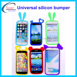 Popular universal silicon bumper case for all smart phone,various designs bumper,ring silicon bumper