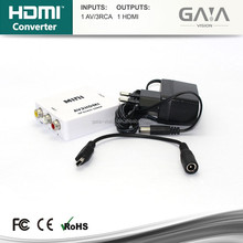 AV Composite Video Audio RCA CVBS to HDMI Converter Adapter HD 1080P with USB Charge Cable for HDTV PC PS3 Blue-Ray DVD Players