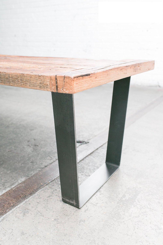 16 trap ze moderne cadre jambes acier brut ensemble de - Pied de table moderne ...