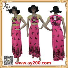 Wholesale fashion dress design casual printed women african dresses