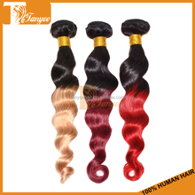Alierpress hot selling top quality 1b 27 brazilian hair styles pictures body wave 6A 2 tone color ombre hair