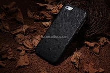 Hottest Top ostrich skin back Genuine Leather Phone cover Case for iPhone 5 5s +Original box all point
