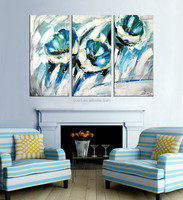 New design flower oil painting canvas