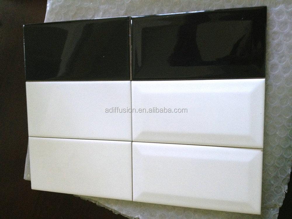 Wholesale White Matte Beveled Subway Tiles 7 5 15cm 3x6