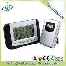 Digital clock solar weather station hygrometer display CE certification WG047