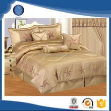 Luxury high quality satin king size comforter bedding set ,comforter