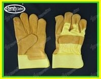 """Package as your requirements 10.5"""" industrial leather hand gloves"""