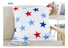 low price bright color simple design cotton throw pillow