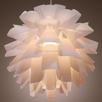 Simple modern wire hanging flower lamp for sale