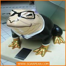 De tamaño natural de fibra de vidrio Toad estatua