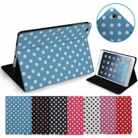 fancy Dot design flip leather cover case for tablet ipad mini 1 2 3