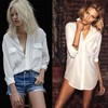 Ladies t shirt with pocket cheap plain white t-shirts elegant blouses pictures for summer