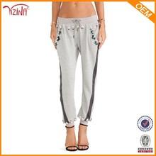 venta al por mayor de moda de diseño suelta de algodón <span class=keywords><strong>pantalones</strong></span> jogger con el diamante para las mujeres
