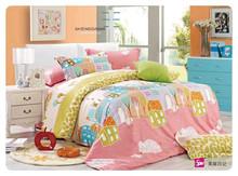 100% cotton reactive printing cartoon bedding set bed skirting for kids