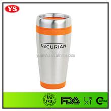 16oz eco friendly stainless steel custom imprinted coffee mugs