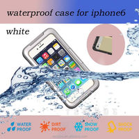 Factory IP68 Qualified PC + TPU flip cellphone cover water proof case for iPhone 6 plus