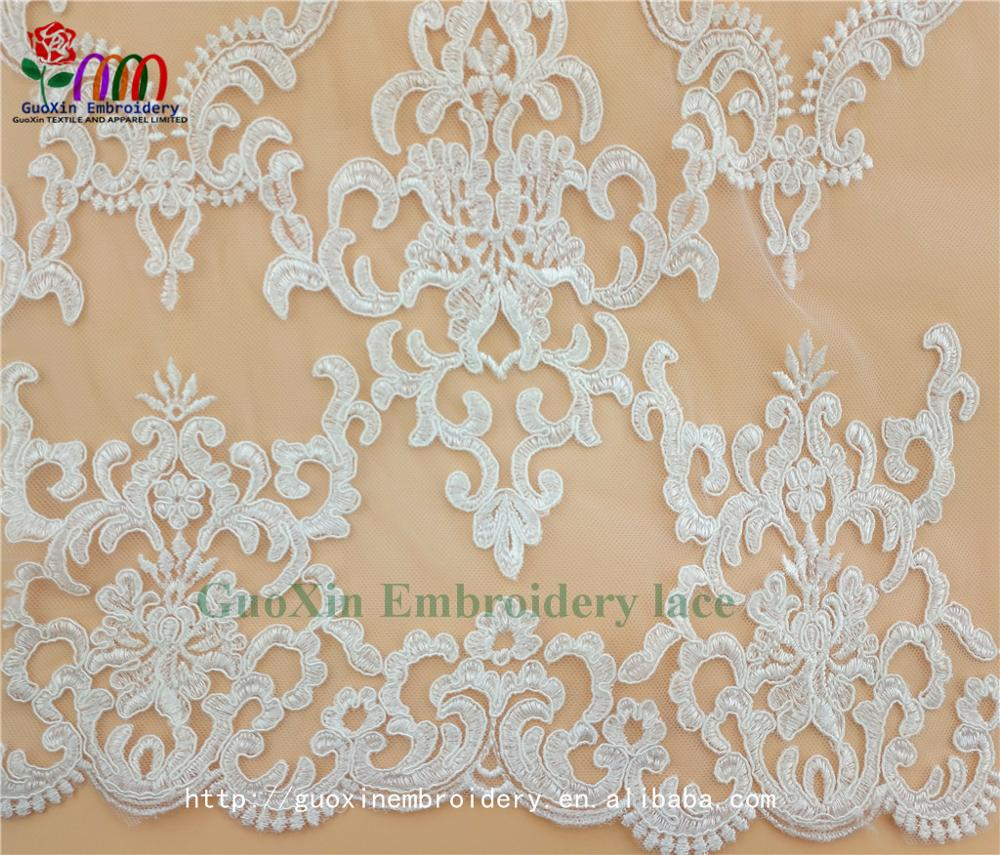embroidery tulle manufacture wholesale wedding veil ivory lace fabric with cording (4).jpg