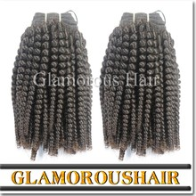 Natural black unprocessed hair weft 6a kinky curly wholesale virgin indian hair