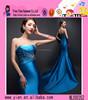 Latest Design Sexy Beaded Backless Blue Elegant Evening Dress Sweetheart Mermaid Blue Elegant Evening Dress