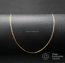 Wholesale new trend fashion gold plated thin necklace designs