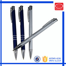 Promotional metal barrel high quality three rings ballpoint pen