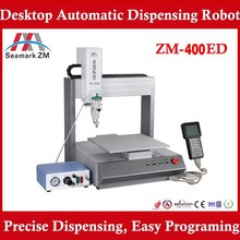 2015 best quality ZM-400ED aotomatic glue dispensing machine, 3 axis glue dispenser for pcb/ led production line