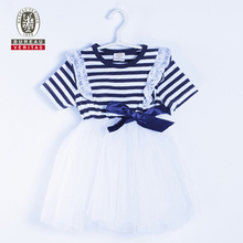 2011 kid new design dress pure color dresses for kids party