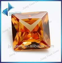 Jiangyuan Hot Sale Deep Champagne Pretty Synthetic Cubic Zirconia Stones Price