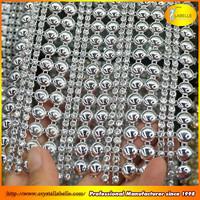 Wedding Party Table Napkin Decor Banding Silver Rhinestone Mesh Wrap Ribbon Roll Wholesale