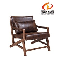 dark color solid wood sofa chair with cushion FD14A