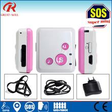 lower battery /geo-fence alarm portable mini waterproof cheap mini gps tracker for kids