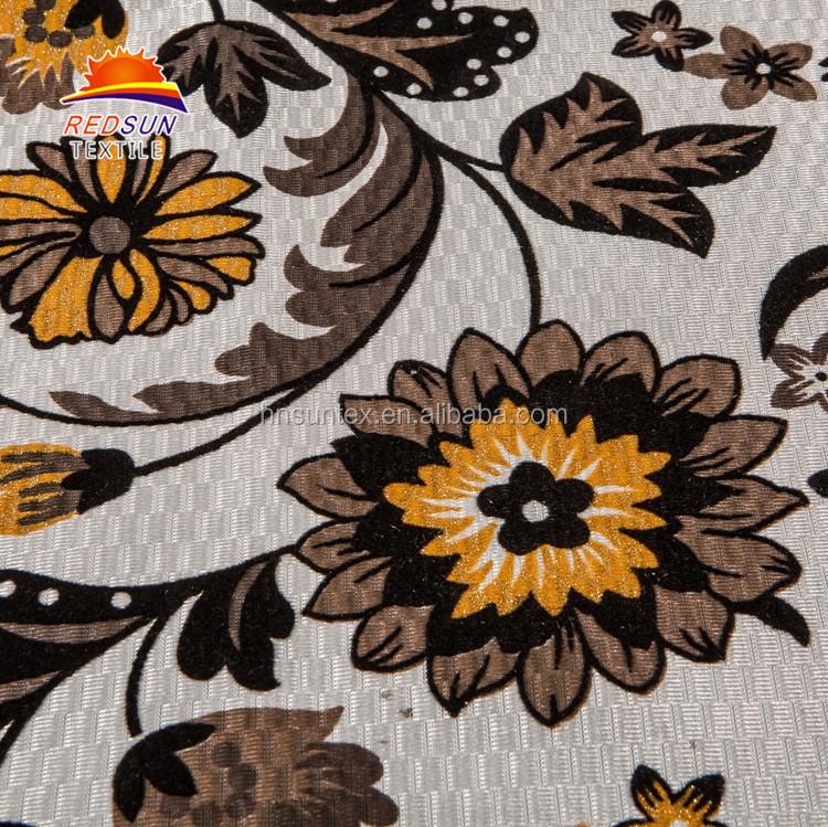 Design attrayant 75D/144F Royal Canapé Flocage Nouveau Tissu