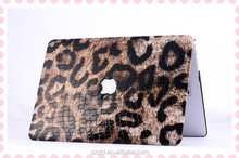 leopard leather laptop case