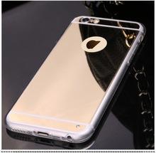Luxury slim For Apple iPhone 6 aluminum mirro case back mirro hard case