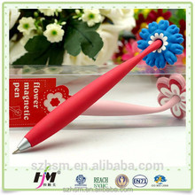 Custom made silicone magnetic pens for love round magnet pen