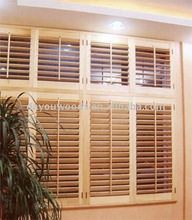 Stain basswood Vertical shutter