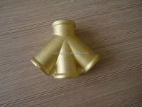 copper 4 way female pipe connector , manifold pipe fitting