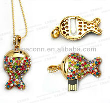 Colorful Fish Necklace Pendrives Wholesale
