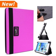 Fuchsia Purple Universal Flip Tablet Cover Case for Samsung Note 10.1 P600