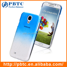Set Screen Protector And Case For Samsung Galaxy S4 I9500 , Dark Blue Cell Phone Plastic Hard Shell Case