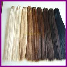 New products 2015 double drawn russian hair human hair weaving human hair weft