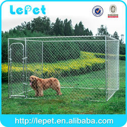 2015 new style chain link galvanized steel dog kennel hot sale