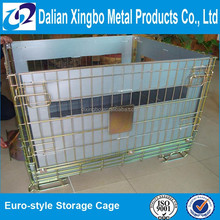 Euro style Pet Preform collapsible Wire Mesh Cage