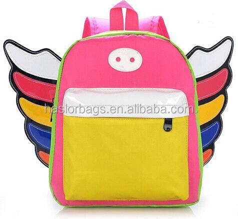2015 nouveau Design de enfants nouveauté sacs à dos avec des ailes