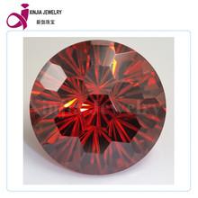 Round Cut Garnet Stone big cubic zirconia loose Synthetic CZ Gemstone